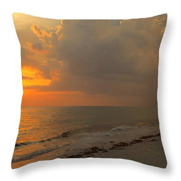 Good Night Sun Throw Pillow