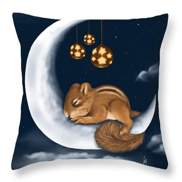 Throw Pillow featuring the painting Good Night by Veronica Minozzi