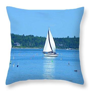 Good Sailing Throw Pillow