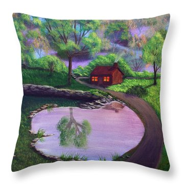 Good Spring Morning Throw Pillow