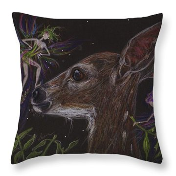 Throw Pillow featuring the drawing Good Thing You Are Cute by Dawn Fairies