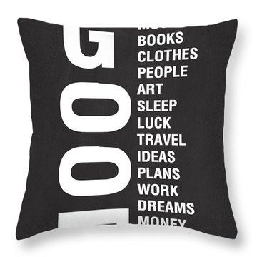 Good Things Throw Pillow by Linda Woods