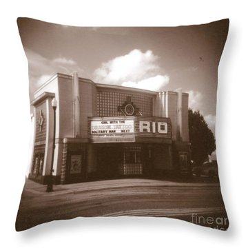 Good Time Theater Throw Pillow