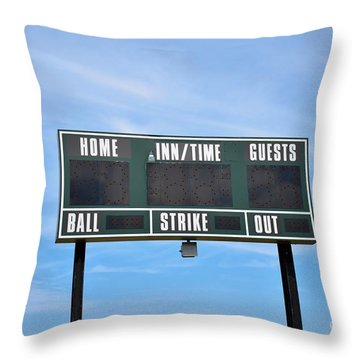 Throw Pillow featuring the photograph Good Times - Sports ...  by Ray Shrewsberry