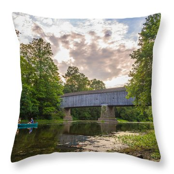 Good To Canoe Throw Pillow
