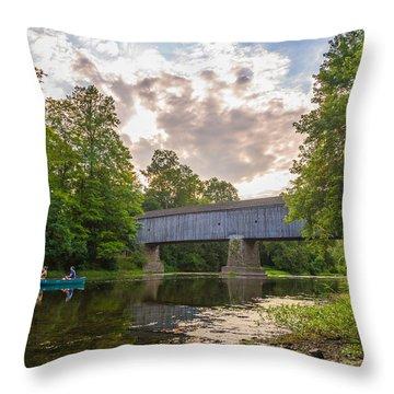 Good To Canoe Throw Pillow