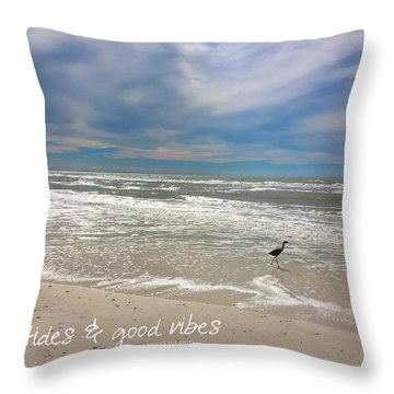 Throw Pillow featuring the painting Good Vibes by Tom Roderick