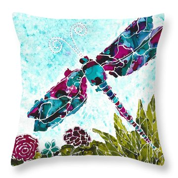 Throw Pillow featuring the painting Good Vibrations II by Kathryn Riley Parker