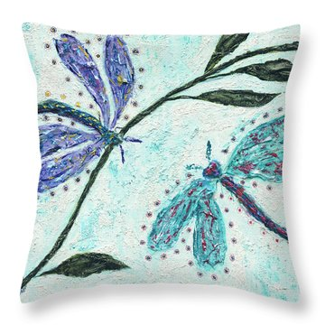Throw Pillow featuring the painting Good Vibrations by Kathryn Riley Parker