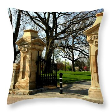 Goodale Park Gateway Throw Pillow by Laurel Talabere