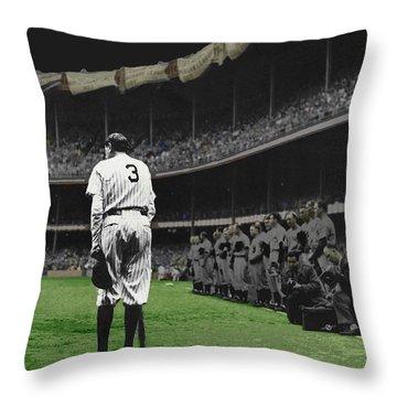 Goodbye Babe Ruth Farewell Throw Pillow
