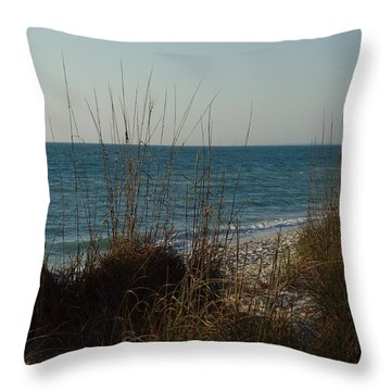 Throw Pillow featuring the photograph Goodbye Cruel World by Robert Margetts