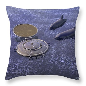 Goodbye Humankind - Surrealism Throw Pillow