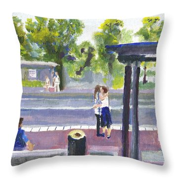 Goodbye Kiss In Gothenburg Sweden Throw Pillow