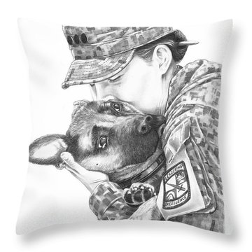 Goodbye Kiss Throw Pillow by Murphy Elliott