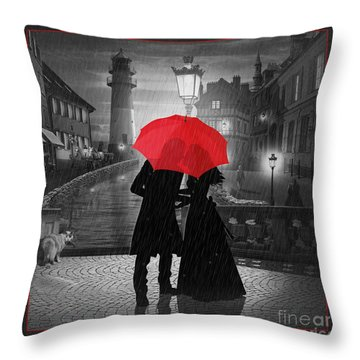 Goodbye My Love Throw Pillow by Monika Juengling