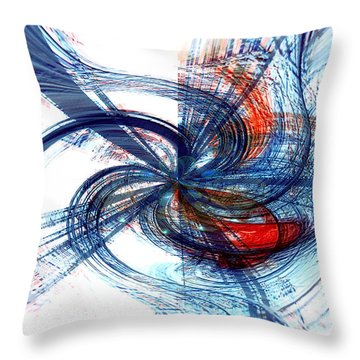 Goodbye Sky Throw Pillow by Linda Sannuti