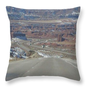 Goodbye Utah Throw Pillow