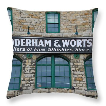 Gooderham And Worts Distillery Throw Pillow