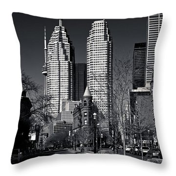 Gooderham Flatiron Building And Toronto Downtown Throw Pillow