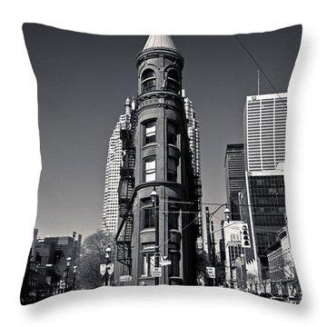 Gooderham Flatiron Building Toronto Canada Throw Pillow
