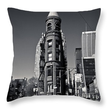 Gooderham Flatiron Building Toronto Canada Throw Pillow