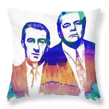 Goodfellas Watercolor Throw Pillow