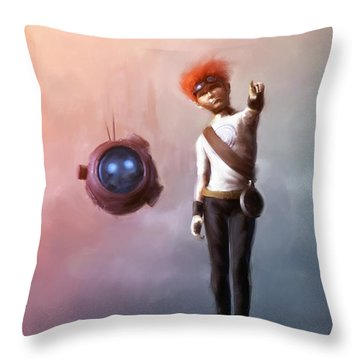 Goodkid Throw Pillow by Jamie Fox