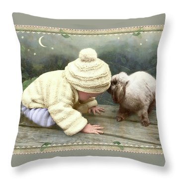 Goodnight Bunny Throw Pillow