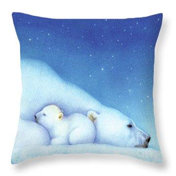 Arctic Bears, Goodnight Nanook Throw Pillow