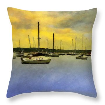 Goodnight, Nantucket Throw Pillow by RC deWinter