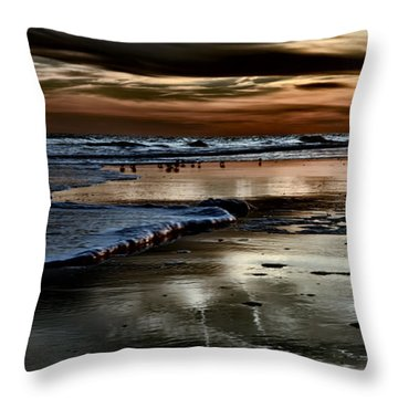 Goodnight Sun Isle Of Palms Throw Pillow