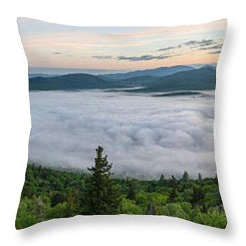 Goodnow Mountain Panorama Throw Pillow