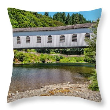 Goodpasture Covered Bridge Throw Pillow