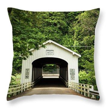Goodpasture Covered Bridge Throw Pillow