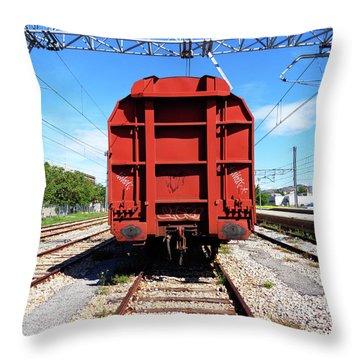 Goods Wagon Throw Pillow by Don Pedro De Gracia