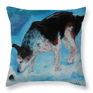 Goofie Throw Pillow by Dan Whittemore