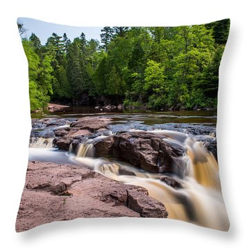 Goose Berry River Rapids Throw Pillow by Paul Freidlund