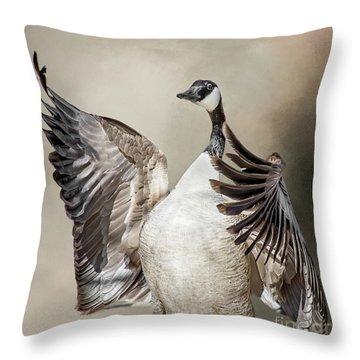 Goose Chase Throw Pillow