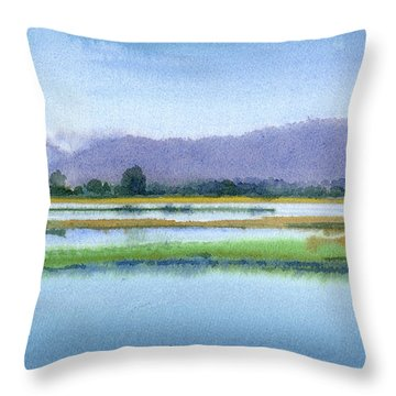 Goose Island Marsh Throw Pillow