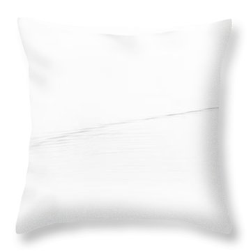 Goose On The Pond Throw Pillow by David Patterson