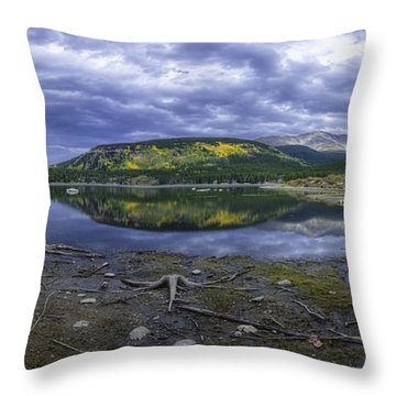 Throw Pillow featuring the photograph Goose Pasture Tarn by Bitter Buffalo Photography