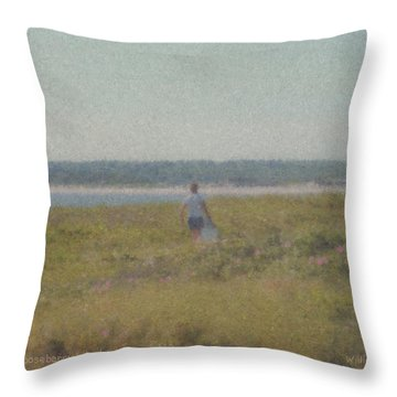 Gooseberry Island Westport Ma Throw Pillow
