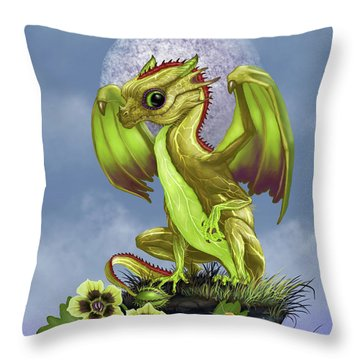 Throw Pillow featuring the digital art Gooseberry Dragon by Stanley Morrison