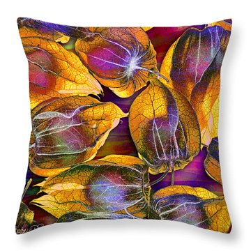 Goosed Berry Pods Throw Pillow