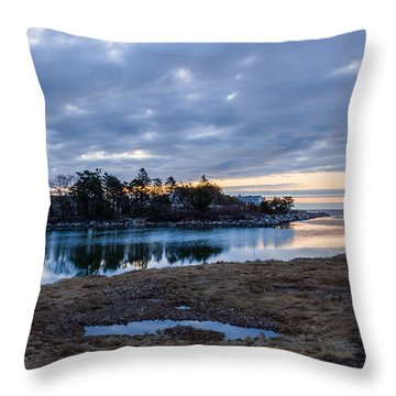 Goosefare Brook - Saco Maine Throw Pillow