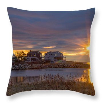 Goosefare Brook Sunrise - Saco Maine Throw Pillow