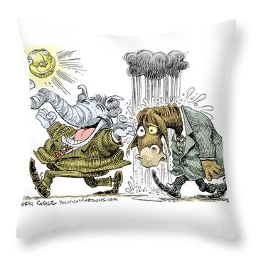 Gop Glee And Dem Doom Throw Pillow