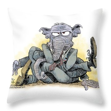 Gop Tied Up In A Knot Throw Pillow