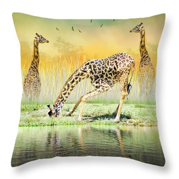 Gopher I Know I Saw A Gorpher Throw Pillow by Diane Schuster